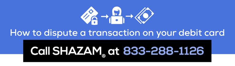 Call Shazam at 833-288-1126